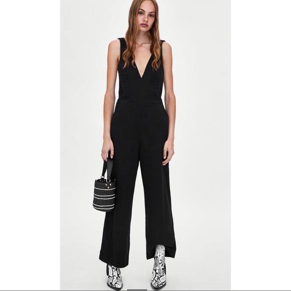 0b7dc831bbbf Zara Wide Strap Jumpsuit. NWT
